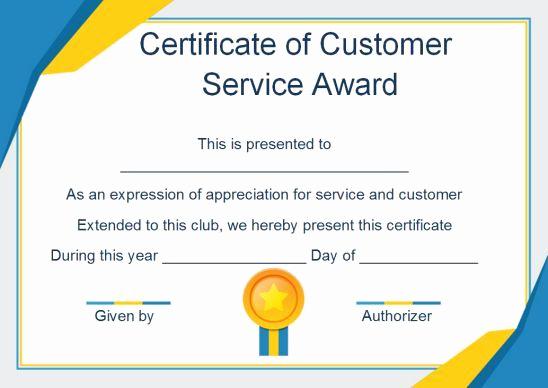 Service Awards Certificates Template Luxury Customer Service Award Certificate 10 Templates that Give