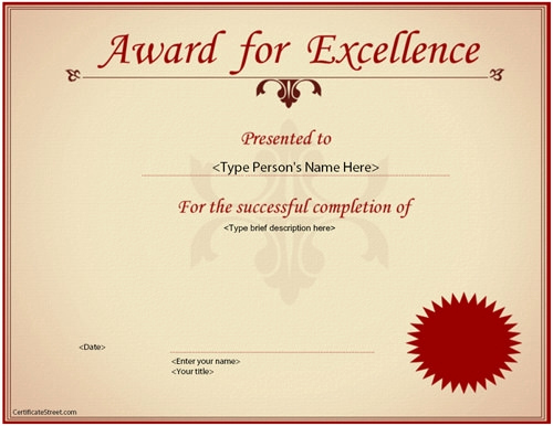 Service Awards Certificates Template Luxury Free 35 Best Award Certificate Templates In Illustrator