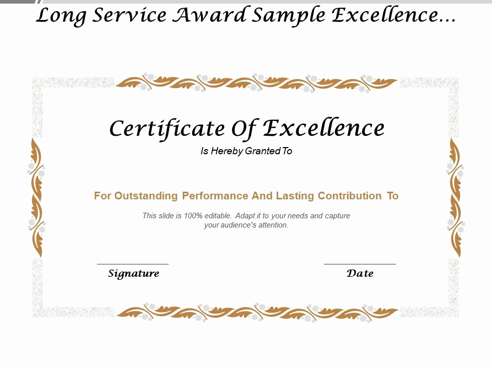 Service Awards Certificates Template New Long Service Award Sample Excellence Certificate