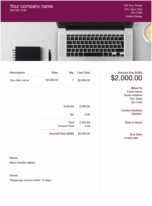 Services Rendered Invoice Template Fresh Free Services Rendered Invoice Template Download