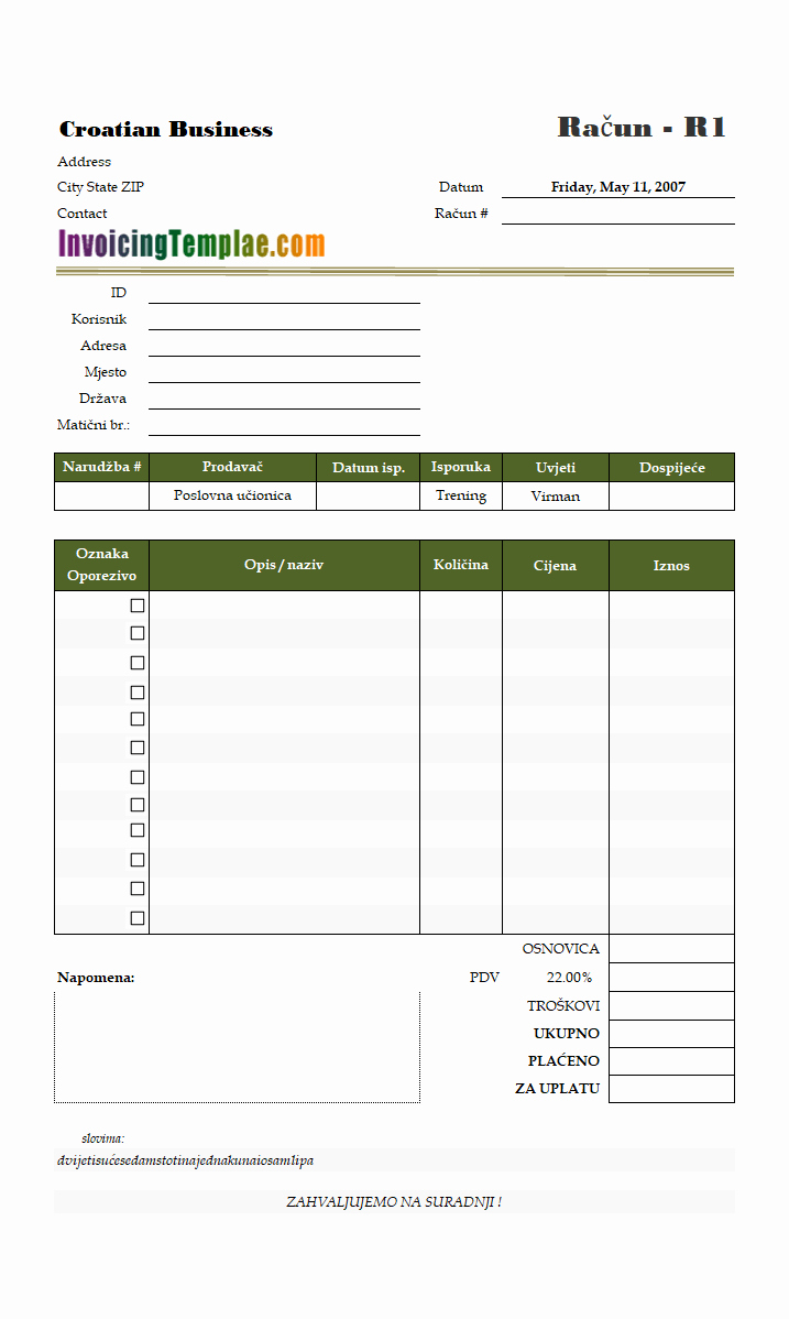 Services Rendered Invoice Template Fresh Service Invoice Template