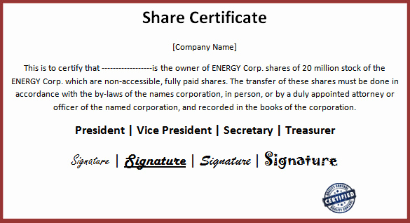 Share Certificate Template Free Download Beautiful – Guatemalago