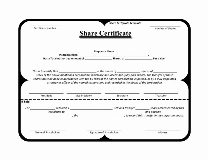 Share Certificate Template Free Download Fresh 21 Stock Certificate Template Free Download
