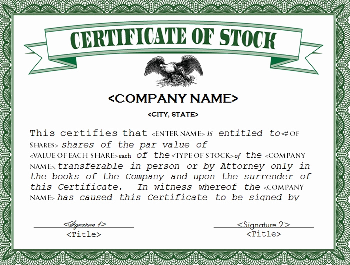 Share Certificate Template Free Download Unique 22 Stock Certificate Templates Word Psd Ai Publisher