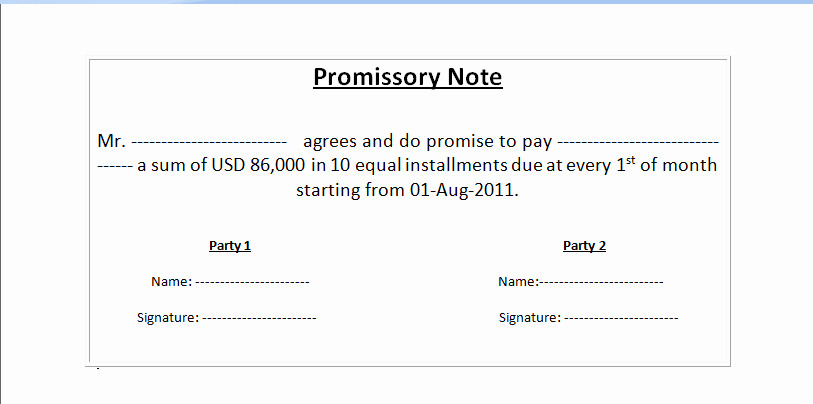 Simple Promissory Note Template Fresh Simple Promissory Note
