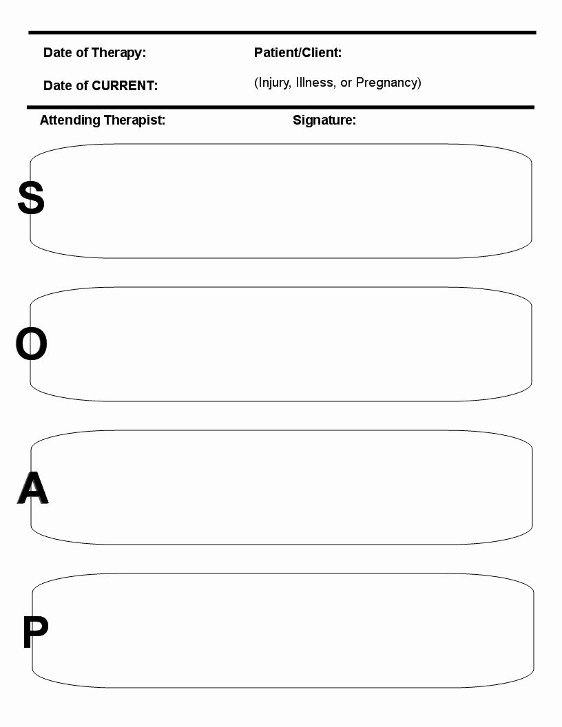 Soap Note Template Massage Best Of 8 Best Of Printable Massage soap Note forms Free