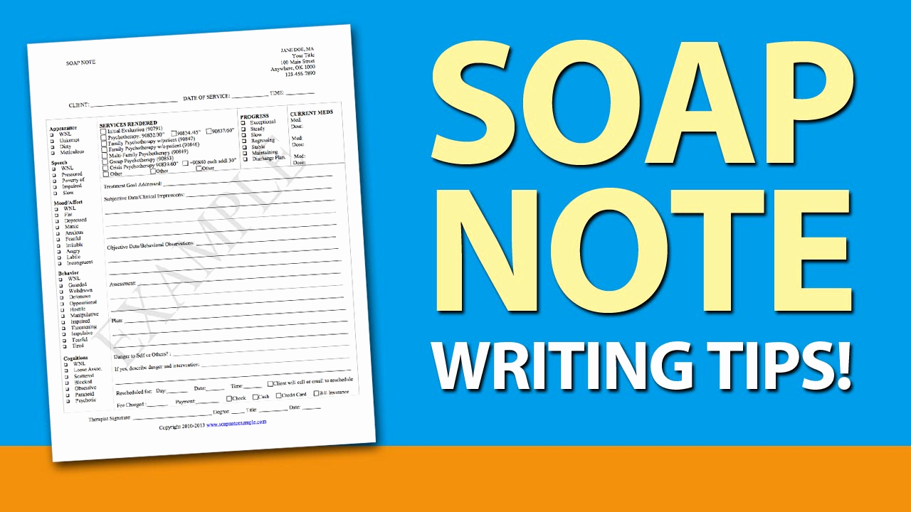 Soap Notes Template Counseling Awesome soap Note Writing Tips for Mental Health Counselors