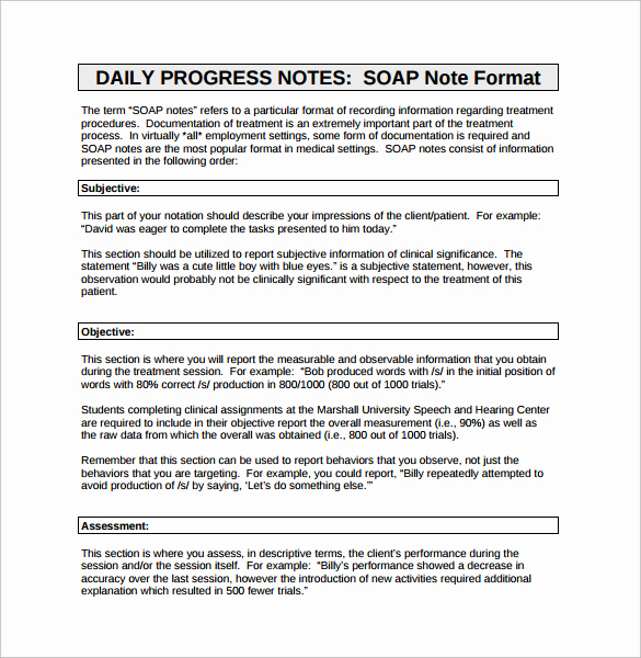 Soap Progress Notes Template Inspirational 26 Of Diabetes Progress Note Template