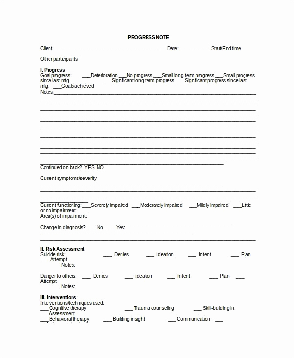 Soap therapy Note Template Best Of Psychotherapy Progress Note Template Pdf
