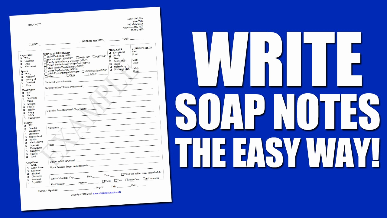 Soap therapy Note Template Lovely Write soap Notes the Easy Way Using A soap Note Template