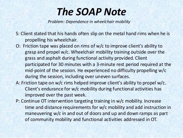 Soap therapy Note Template Unique Image Result for Sample Occupational therapy soap Note