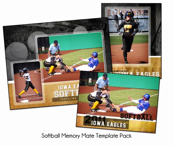 Softball Memory Mate Template Awesome softball Pack B Memory Mate Sports Templates Digital