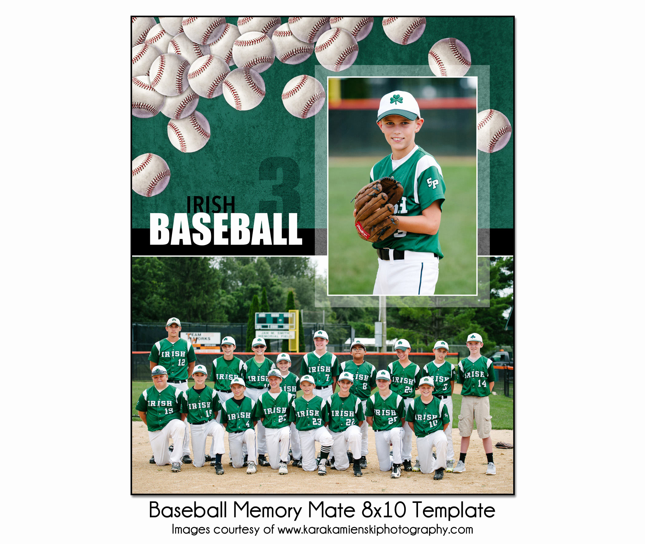 Softball Memory Mate Template Beautiful Baseball Mm8 8x10 Memory Mate Template Sports