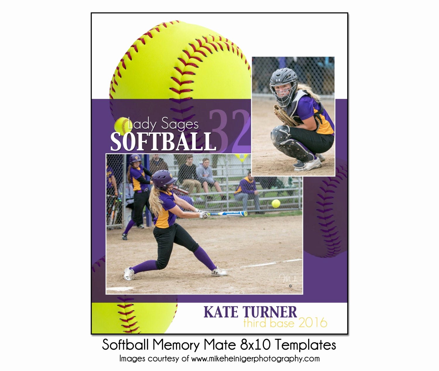 Softball Memory Mate Template Lovely softball Mm9 8x10 Memory Mate Sports Template