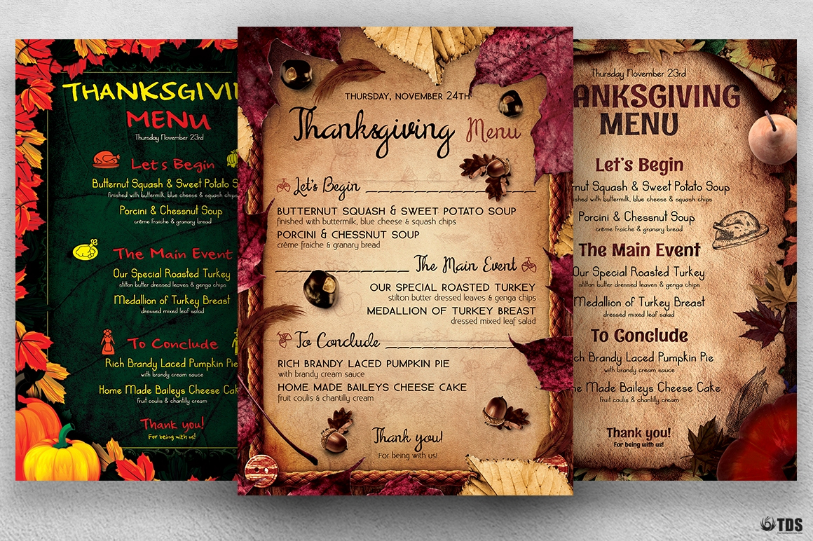 Soul Food Menu Template Beautiful Thanksgiving Menu Flyer Templates to Customize with Photoshop