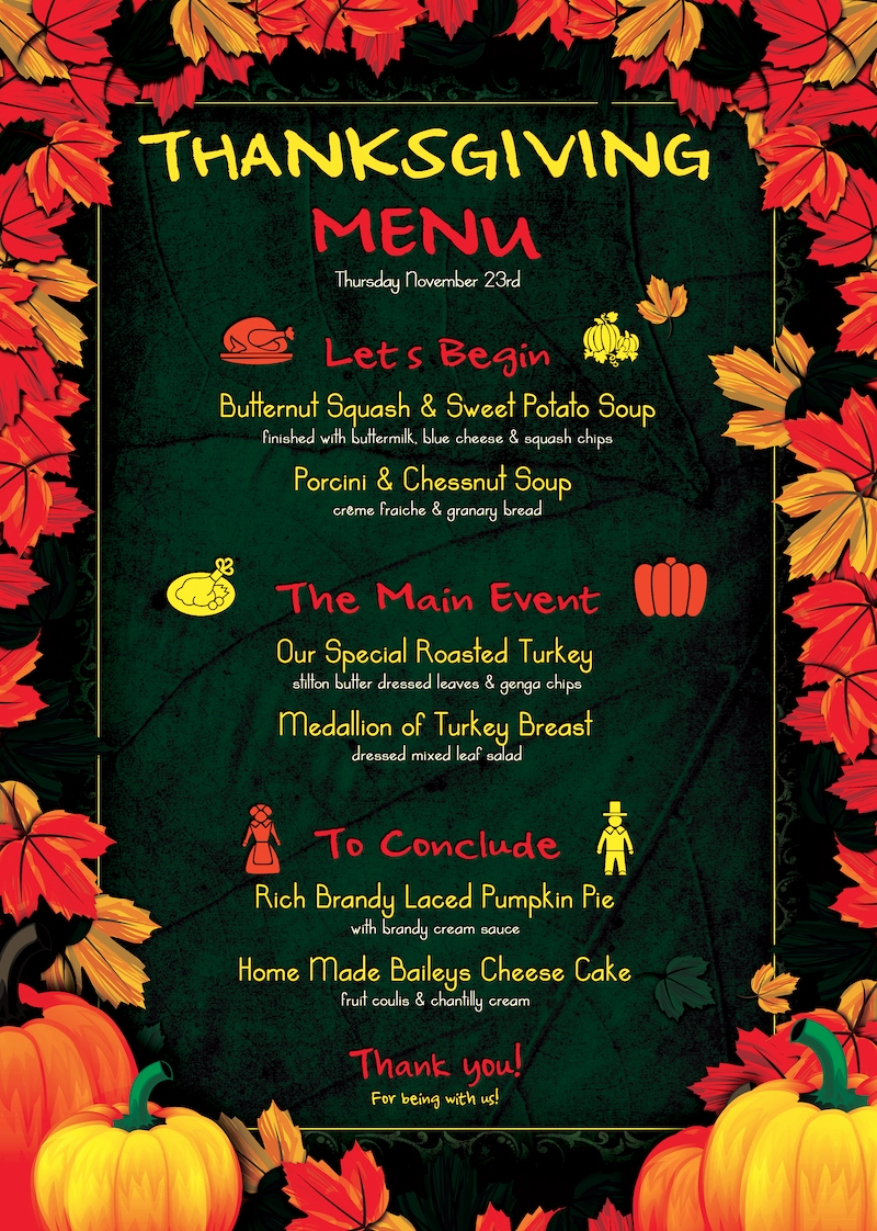 Soul Food Menu Template Elegant Thanksgiving Menu Template Psd Design for Photoshop V 1