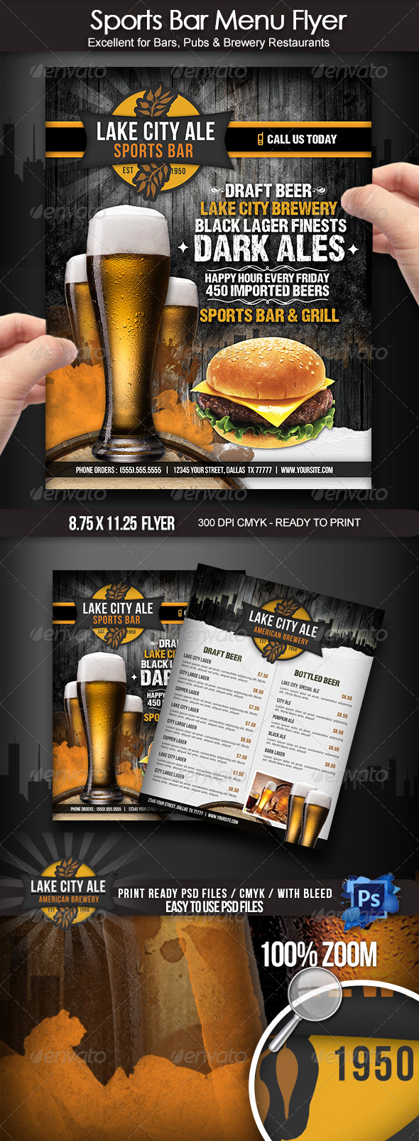 Soul Food Menu Template Fresh Sports Bar Menu Flyer by Boca2600