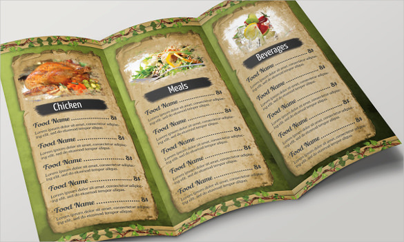 Soul Food Menu Template Lovely 30 Food Menu Templates Free Sample Example format