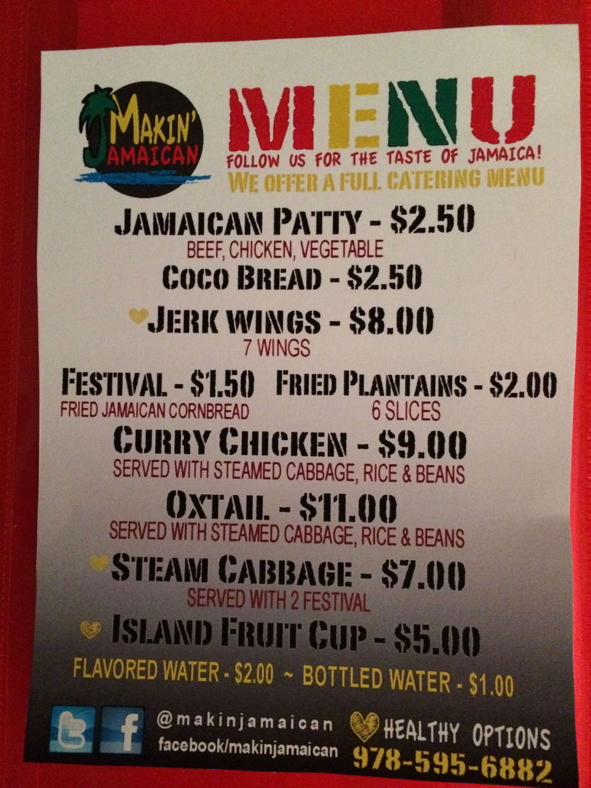 Soul Food Menu Template Luxury Food Truck Menu Design Boston Food Truck Makin Jamaican