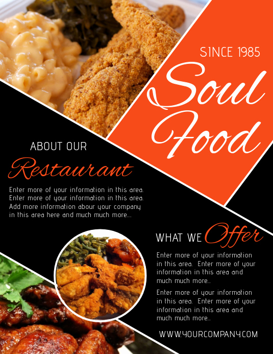 Soul Food Menu Template New Black soul Food Wedding Menu