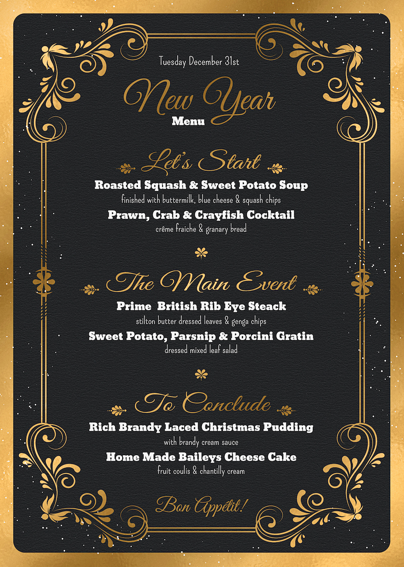 Soul Food Menu Template New New Year Menu Template Psd to Customize with Photoshop