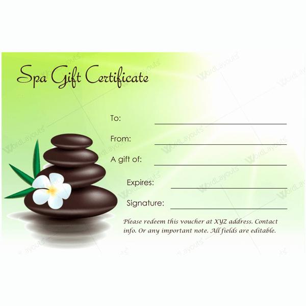 Spa Gift Certificate Template Free Beautiful Bring In Clients with Spa Gift Certificate Templates