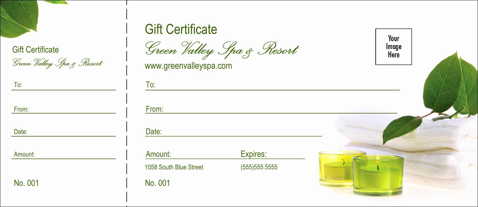 Spa Gift Certificate Template Free Beautiful Spa Logo Gift Certificate