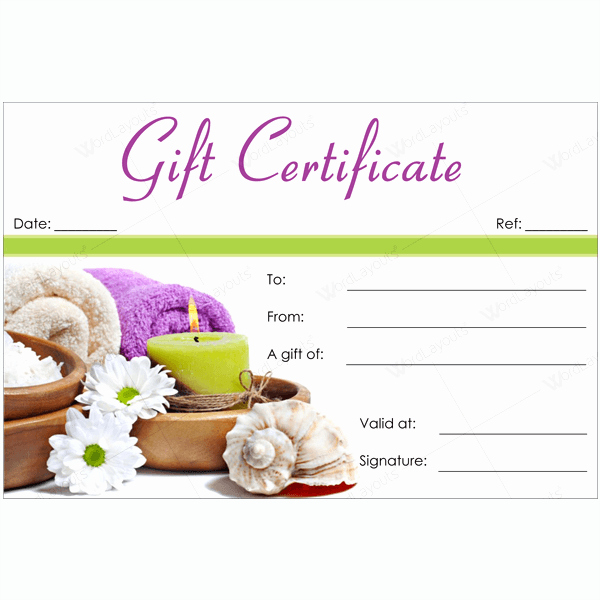 Spa Gift Certificate Template Free Elegant 50 Spa Gift Certificate Designs to Try This Season