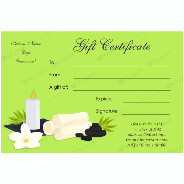 Spa Gift Certificate Template Free Elegant Unzip Multiple Files Free Free Programs Utilities and