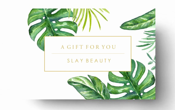 Spa Gift Certificate Template Free Fresh Pre Made Gift Card Template Spa Gift Certificate Boutique