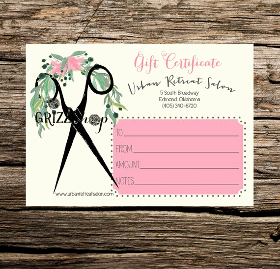 Spa Gift Certificate Template Free Luxury Set Of 50 Salon Gift Certificates by Grizzshop On Etsy