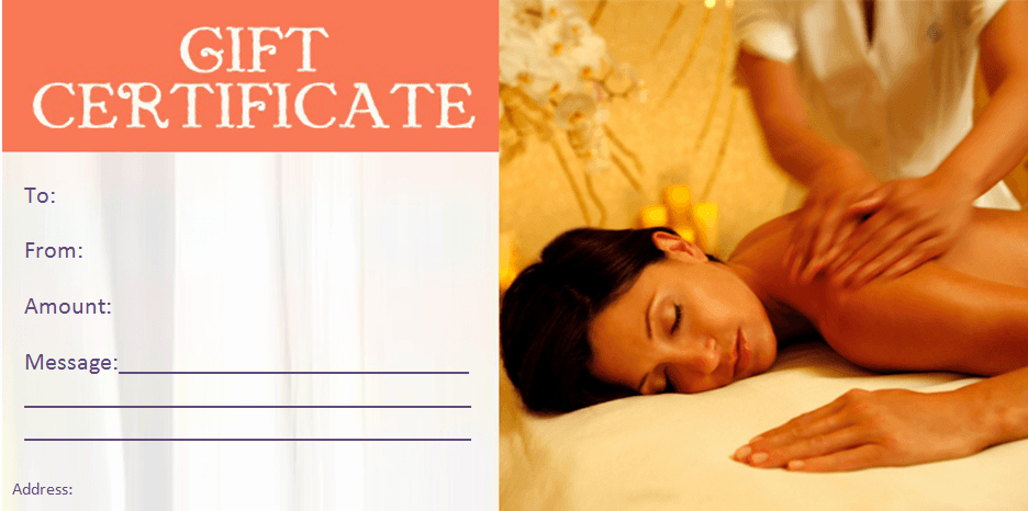 Spa Gift Certificate Template Free New Beauty T Certificate Templates by