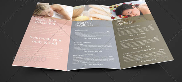 Spa Menu Template Free Awesome 35 Beautiful Spa Brochure Templates – Design Freebies