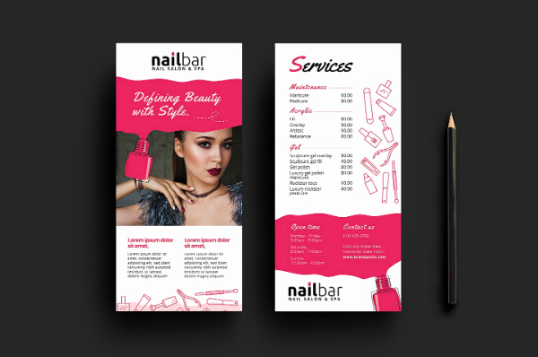 Spa Menu Template Free Elegant 15 Eye Catching Salon Menu Templates Psd Ai
