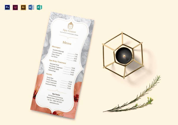 Spa Menu Template Free Fresh 24 Spa Menu Templates – Free Sample Example format