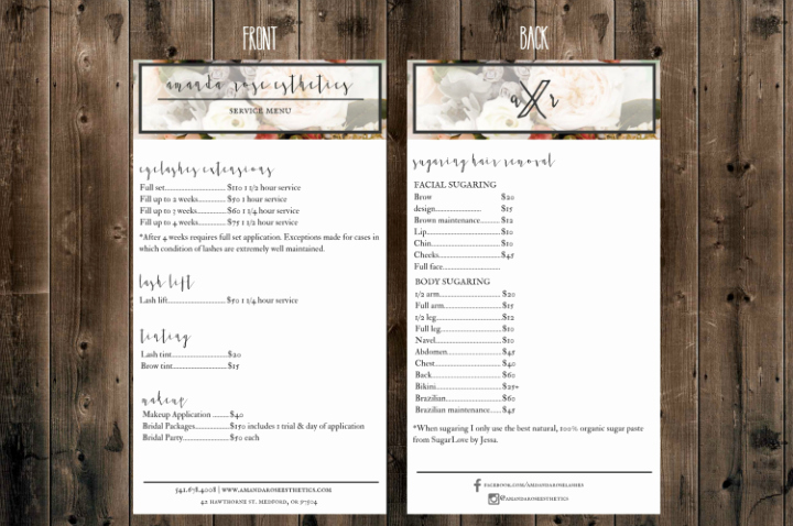 Spa Menu Template Free New 15 Eye Catching Salon Menu Templates Psd Ai