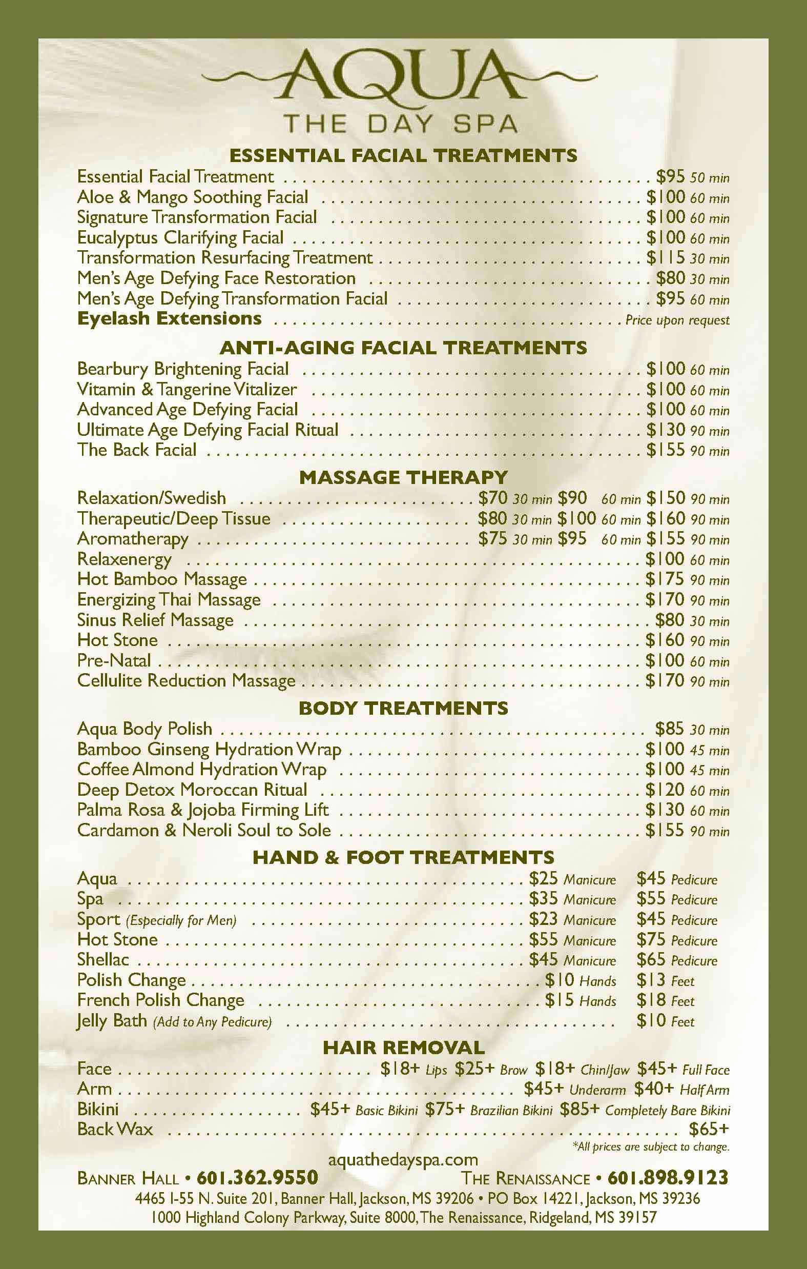 Spa Service Menu Template Elegant Spa Menu How Do Clients Know the Difference Between Each