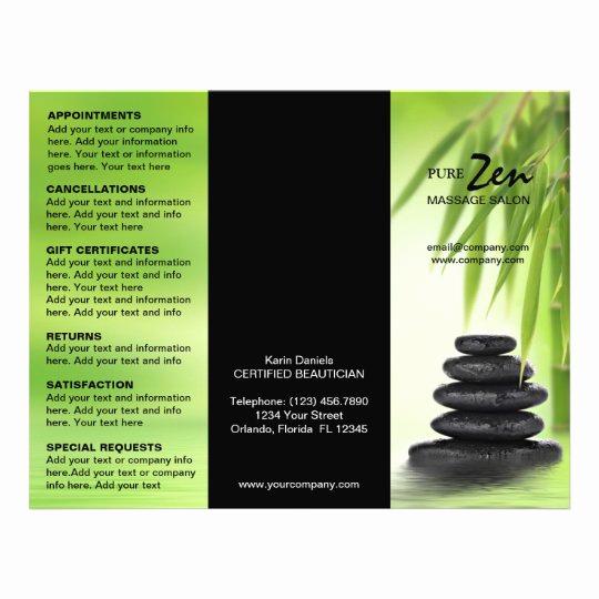Spa Service Menu Template New Spa Massage Salon Service Menu Brochure Template