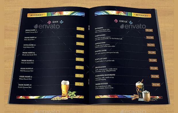 Sports Bar Menu Template Awesome 48 Menu Designs Psd Eps Docs Pages
