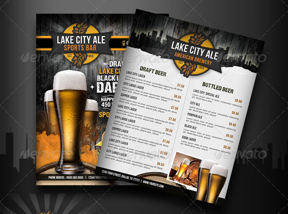 Sports Bar Menu Template Fresh 19 Free & Premium Restaurant Flyer Templates Psd – Desiznworld