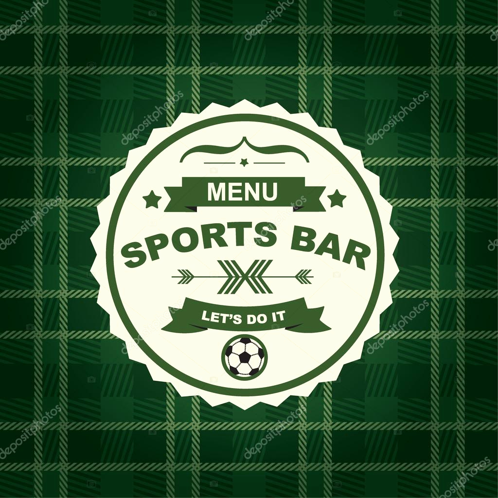 Sports Bar Menu Template Lovely Sports Bar Menu Template Design — Stock Vector © Marchi