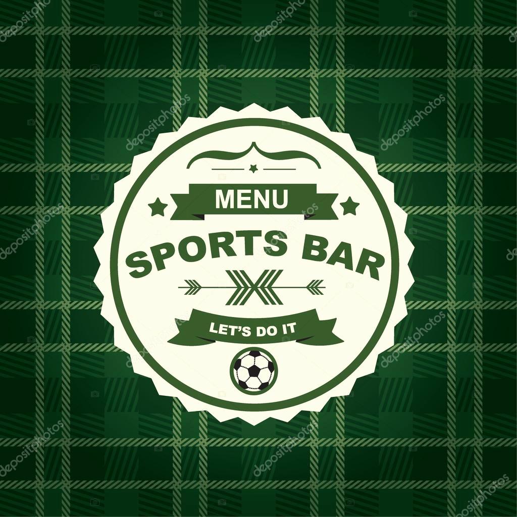 Sports Bar Menu Template Lovely Sports Bar Menu Template Design — Stock Vector © Marchi