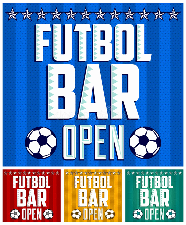 Sports Bar Menu Template New Football Sports Bar Menu Card Design Template Stock