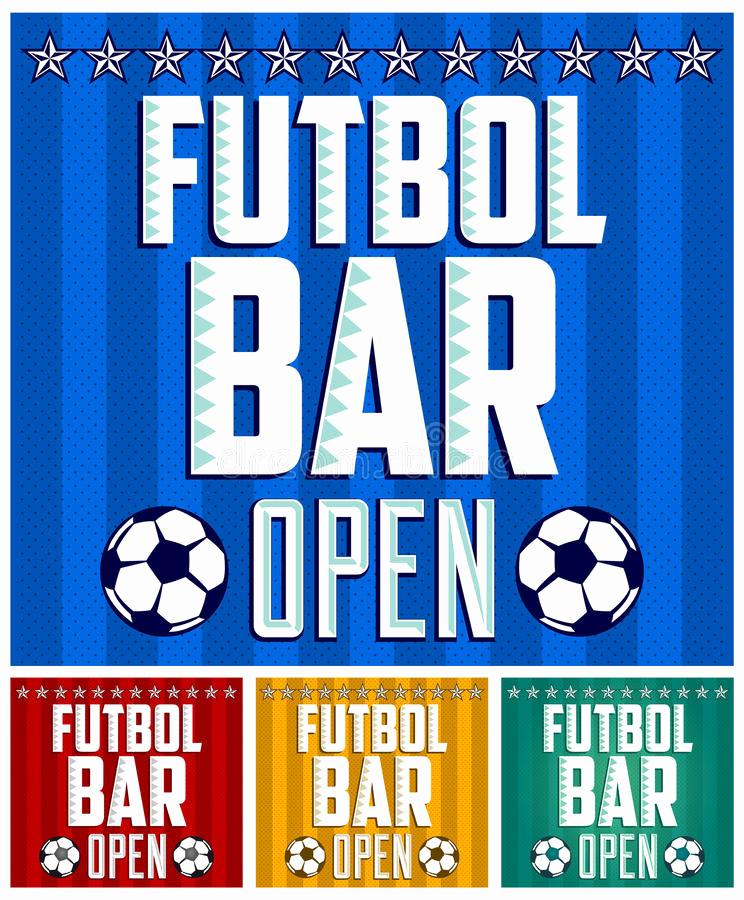 Sports Bar Menu Template New Football Sports Bar Menu Card Design Template Stock