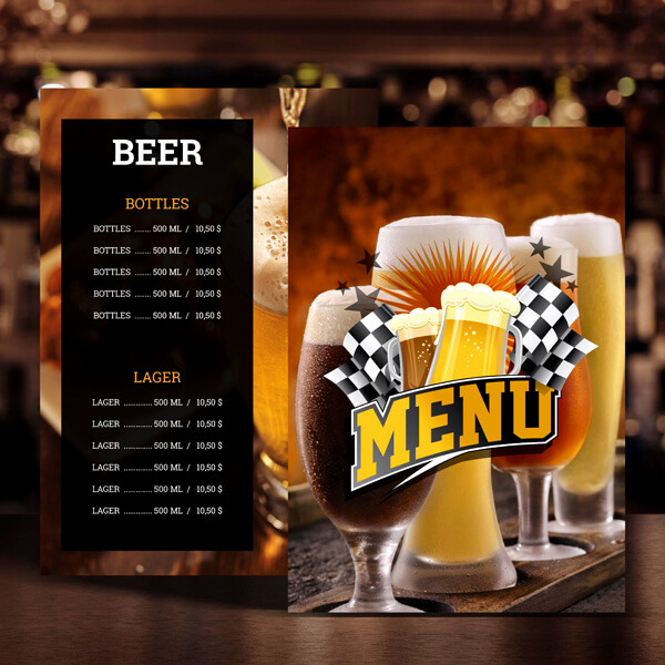 Sports Bar Menu Template New Menugo Restaurant Menu Templates
