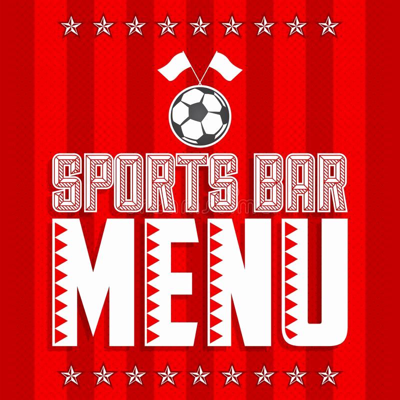 Sports Bar Menu Template Unique Football Sports Bar Menu Card Design Template Stock