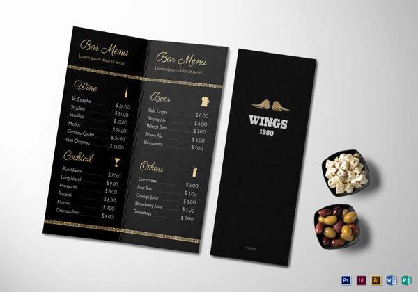 Sports Bar Menu Template Unique Free 30 Bar Menus Templates In Illustrator
