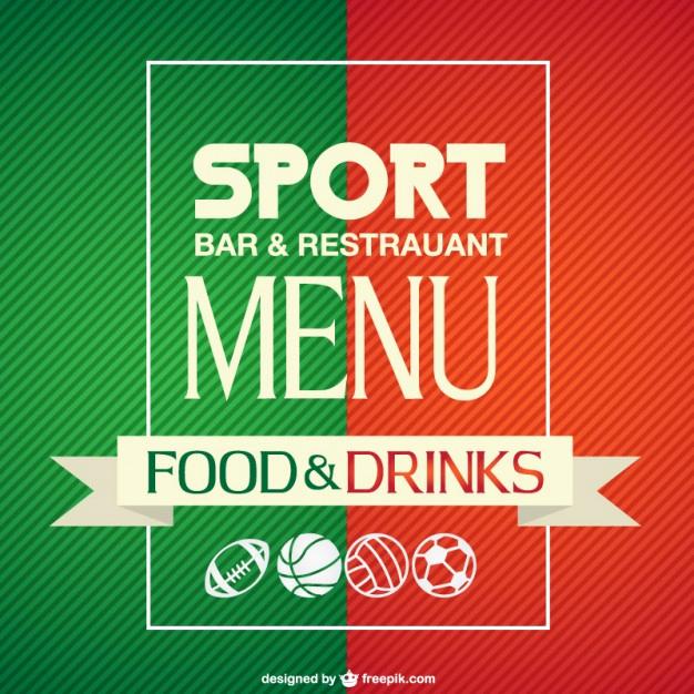 Sports Bar Menu Template Unique Sport Bar Menu Template Vector
