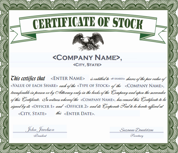 Stock Certificate Template Free Lovely Stock Certificate Template