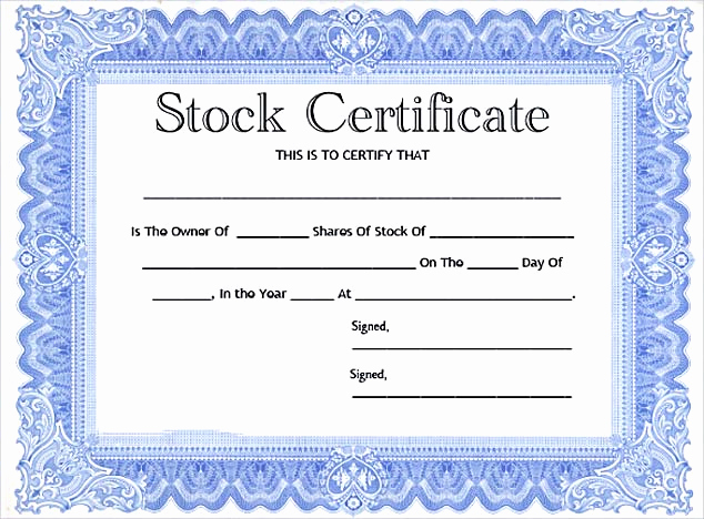 Stock Certificate Template Free Luxury Stock Certificate Template Free In Word and Pdf